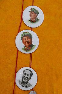 陶瓷毛主席像章