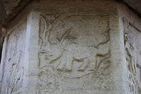 古代壁刻动物图案