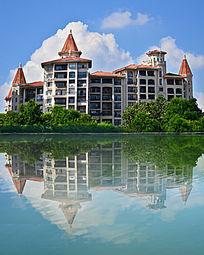 湖景别墅风光楼房建筑图片