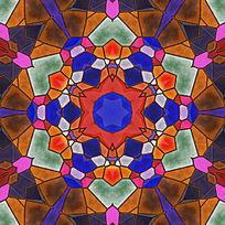 染色玻璃拼花素材