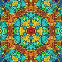 染色玻璃素材