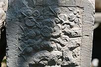 石刻梅花植物图案