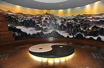十堰市博物馆里的太极八卦图案