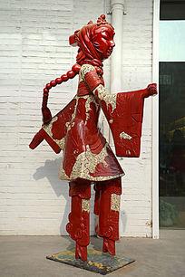 雕塑皮影人物