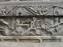 简洁花朵图案石雕-雕刻艺术
