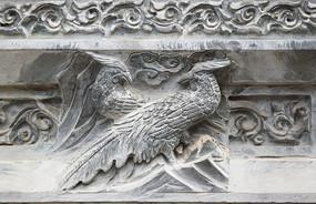 孔雀图案雕刻-石雕