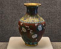清珐琅彩牡丹梅花瓶