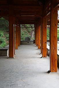 园林景观亭子的回廊