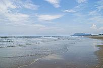 中国第一滩绸布状的海浪