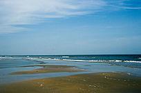 中国第一滩蓝色海滩海天一色