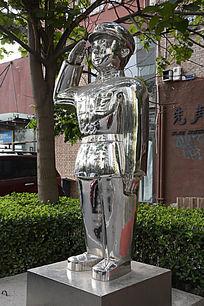 不锈钢雕塑敬礼