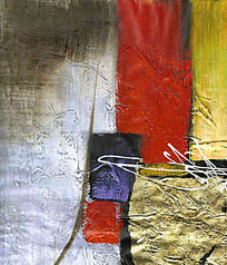 抽象色块油画