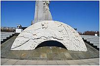 雕塑公园大理石狮子雕塑