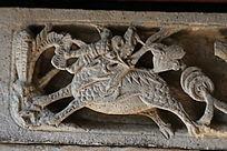 古代麒麟图案石刻