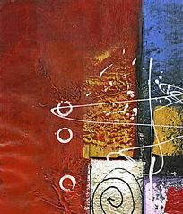 厚油抽象画 现代风格装饰画