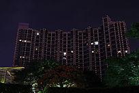 居民楼夜景
