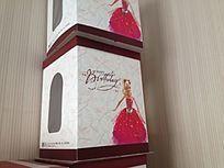 可爱少女生日蛋糕盒