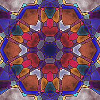 染色玻璃 大理石拼花