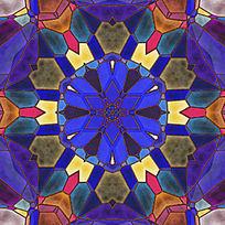 染色玻璃拼图