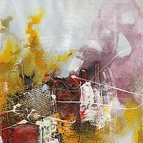 色块抽象画 抽象油画