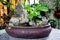 山水陶瓷盘