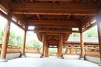 园林景观中式楼台内部