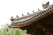 园林景观中式亭台飞檐鸱吻