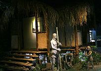 原始时期狩猎归来常景塑像