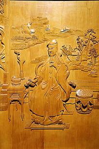 黄柏木道士图案木刻