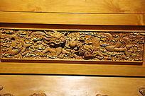 黄柏木雕二龙戏珠