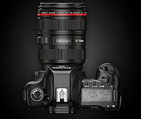 佳能5D单反相机俯视图