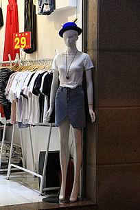 全身塑料女模特摆件