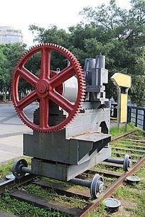 铁轨上的装置