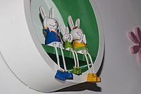小兔子摆件
