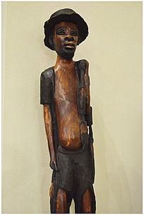 艺术非洲人物木雕