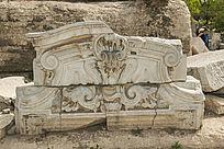 圆明园建筑残件浮雕图案