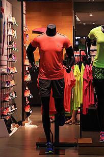 运动全身无头塑料男模特