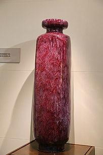 红色敞口长瓶