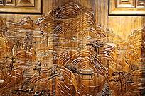 黄花梨木雕山水风景