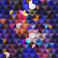 立方体背景素材