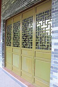 中式雕花木门