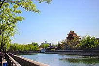 公园清澈的湖水