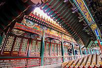 故宫房檐彩绘传统老建筑