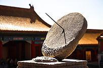 故宫日晷雕塑高清摄影图片