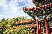 中国故宫古朴建筑檐壁结构