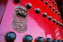 中式大门铺首兽首门环