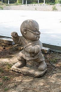 打拳的小和尚雕像