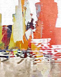 写真喷绘抽象油画高清图片