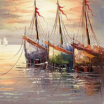 帆船风景画