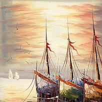 风景画帆船